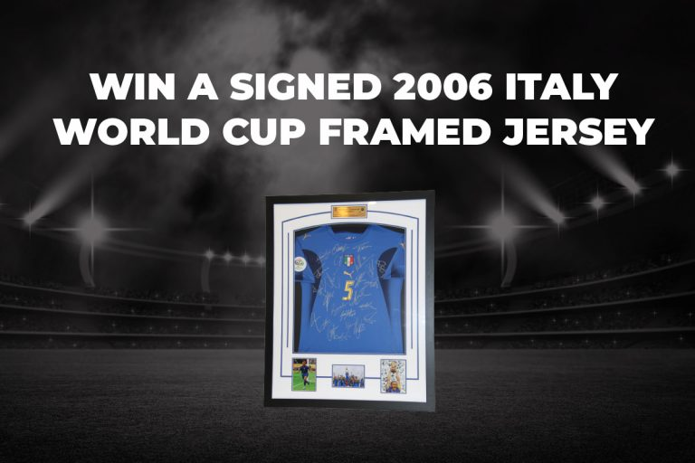 Win a Signed 2006 Italy World Cup Jersey